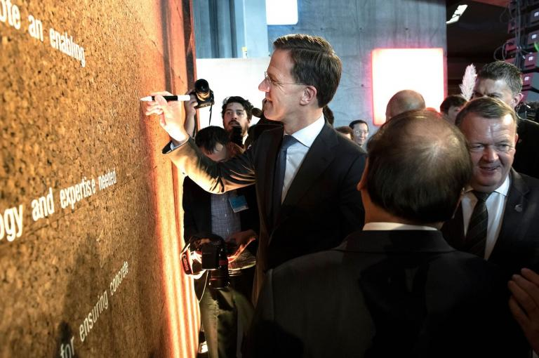 PM signing wall